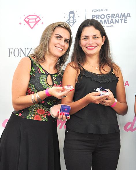 Recendedoras premiadas no evento diamante